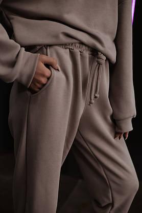 """Штаны женские джогеры бежевые демисезонные спортивные """"Powder"""" Intruder пудровые Oversize осенние весенние, фото 3"""