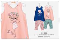 КС 585 Костюм супрем, р.122 колір831 синій, рожевий, малюнок