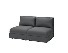 IKEA VALLENTUNA (193.964.21) 2-місний модульний диван, з місцем для зберігання/КЕЛІНГЕ антрацит