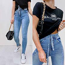 Джинсы женские Американка с брелком New Jeans
