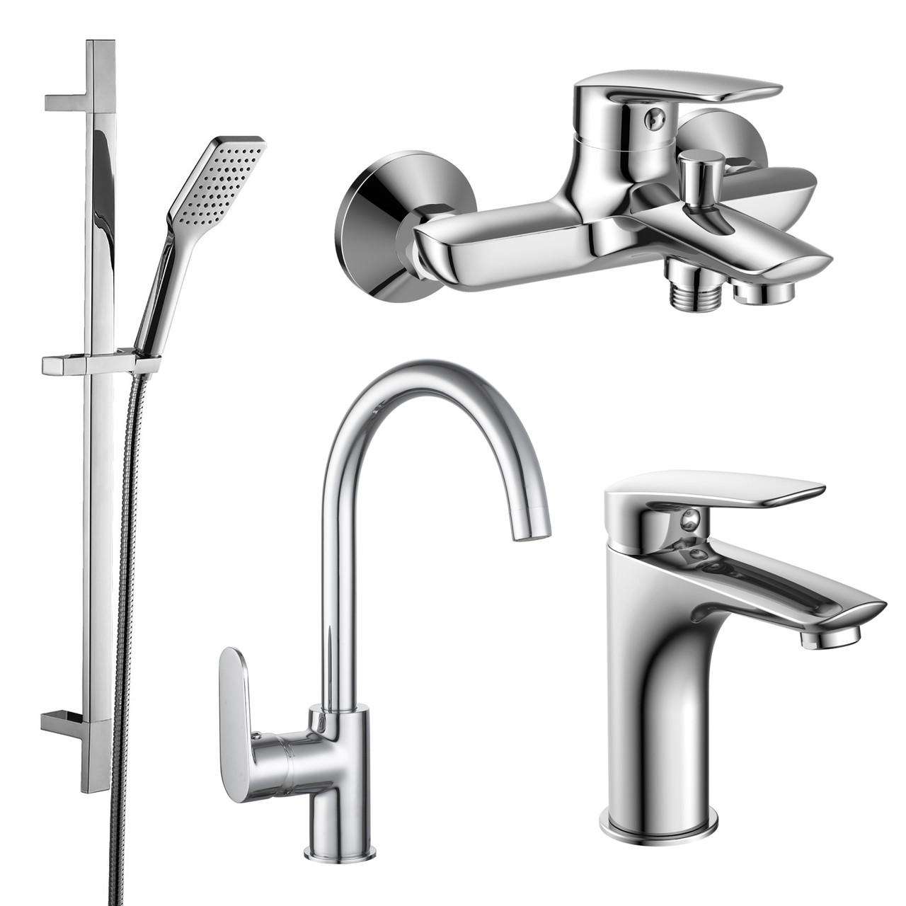 Набор смесителей IMPRESE PL (4 в 1) для ванны и кухни