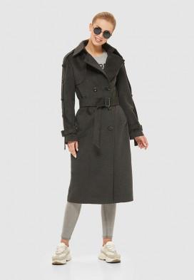 Женское демисезонное пальто ПВ-93 ТМ Mila Nova графит