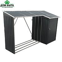 Накрытие для дров металлическое с сараем ( 272x109x160 cм)