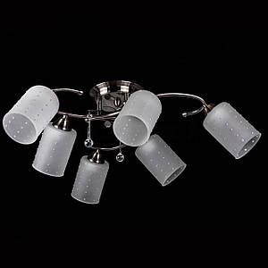 Люстра на 6 лампочек (античная бронза). P3-37391/6C/AB+WT