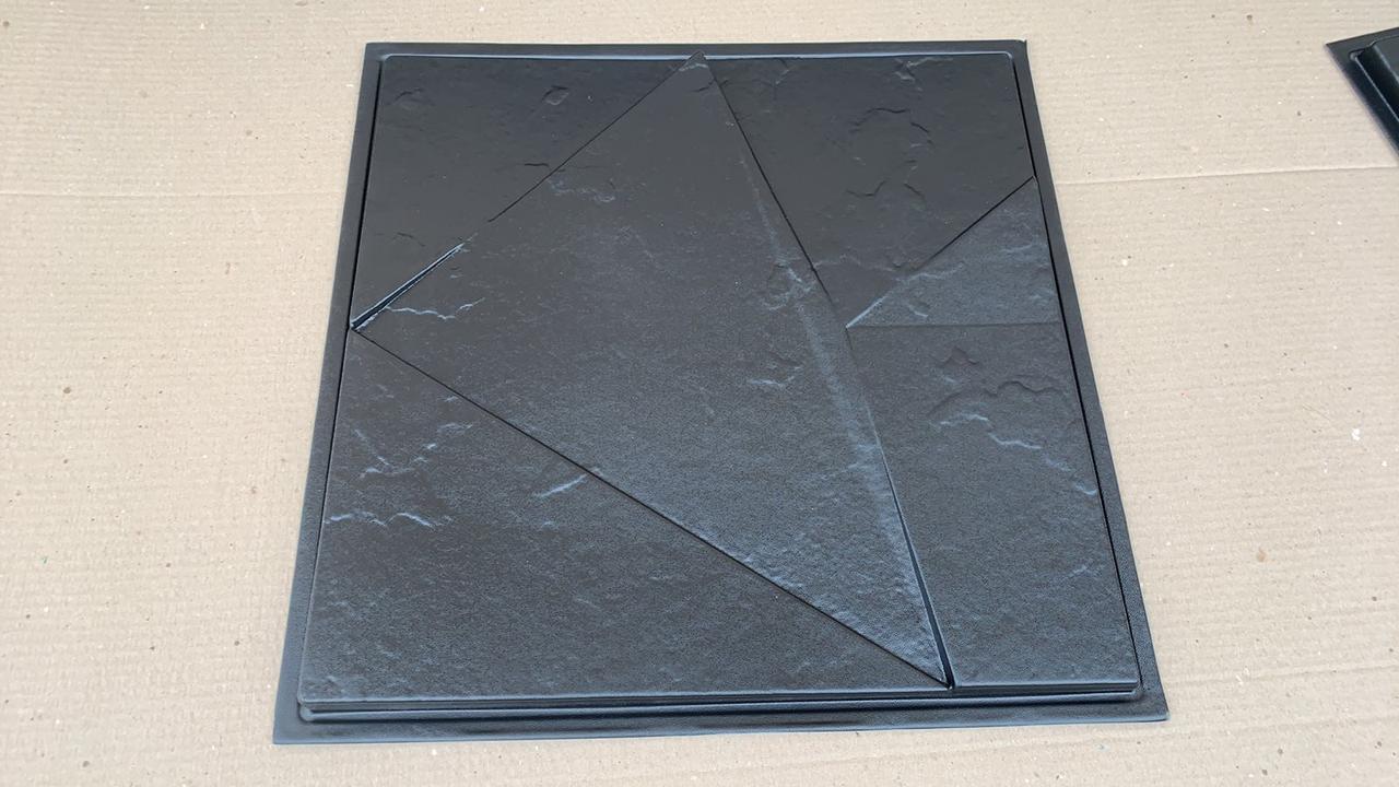 """Пластиковая форма для изготовления 3d панелей """"ЧИЛИ №2"""" 50*50 (форма для 3д панелей из абс пластика)"""