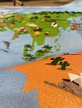 """Безкоштовна доставка! Килим в дитячу """"Карта світу"""" (1.45*1.95 м) утеплений, фото 5"""