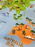 """Безкоштовна доставка! Килим в дитячу """"Карта світу"""" (1.45*1.95 м) утеплений, фото 7"""