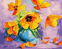 """Картина за номерами. Brushme """"Жовті тюльпани у вазі"""" GX28709"""