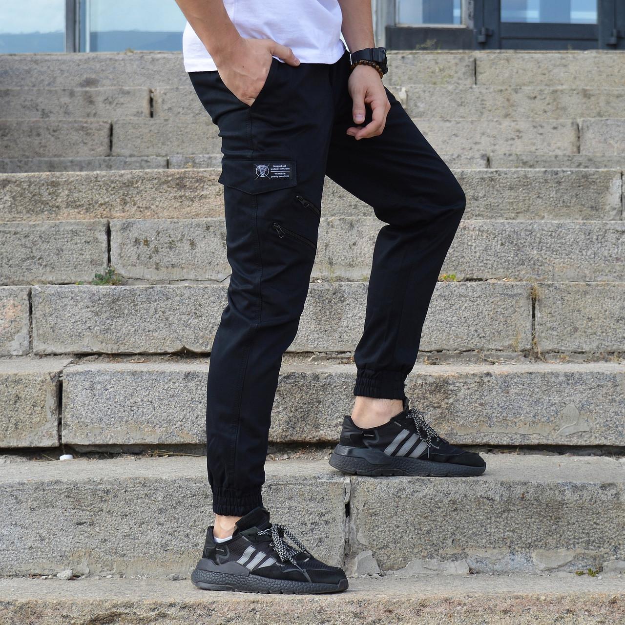 Мужские черные штаны карго ТУР