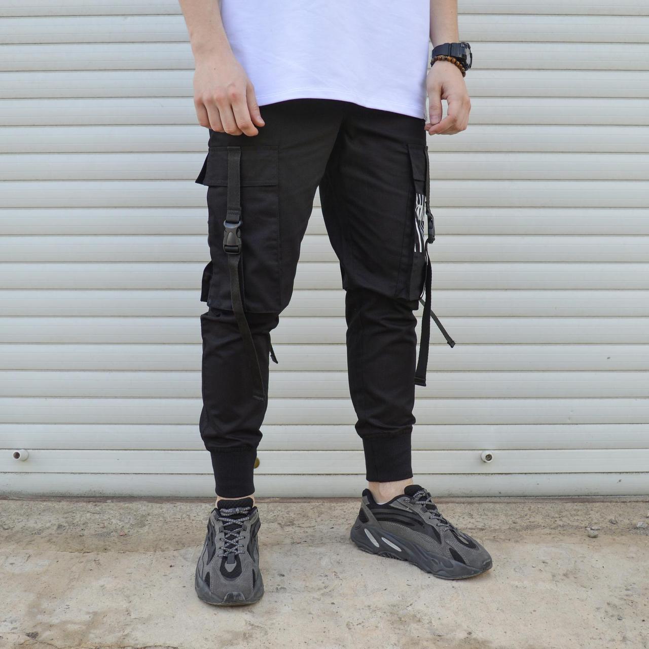 Чоловічі чорні штани карго ТУР
