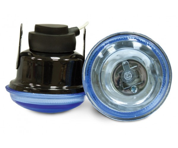 Фара D = 65 мм, галогенова, скло блакитне, 2 шт. Lavita LA HY-085 / B