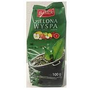 Чай зеленый листовой с фруктами Bastek Zielona Wyspa (Зеленый остров) 100 г Польша