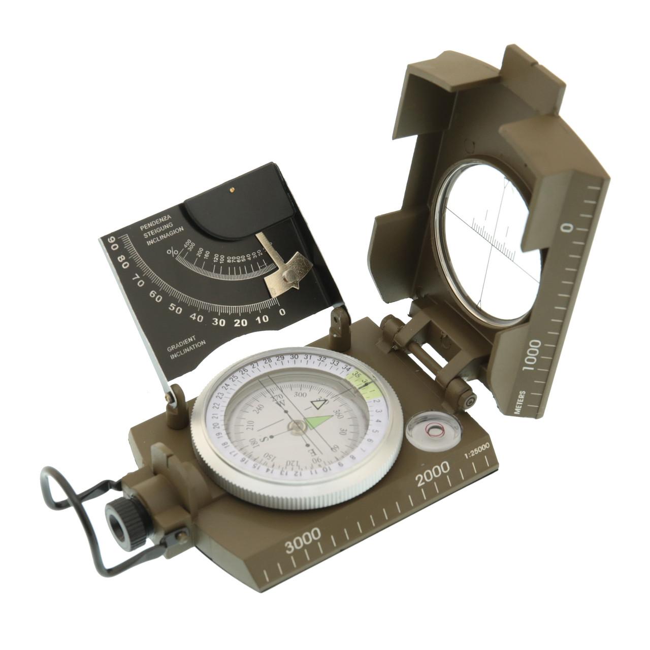 Компас італійський металевий корпус Max Fuchs 34063
