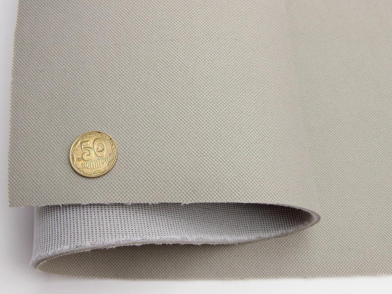 Тканина авто стельова теплий сірий (текстура) RASEL 69, на поролоні 4мм з сіткою шир. 1.70 м (Туреччина)