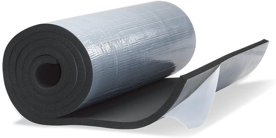 Вспененный синтетический каучук RUBBER C - 10 мм,  САМОКЛЕЙКА !! , (1м х 10м, рулон 10м.кв. )