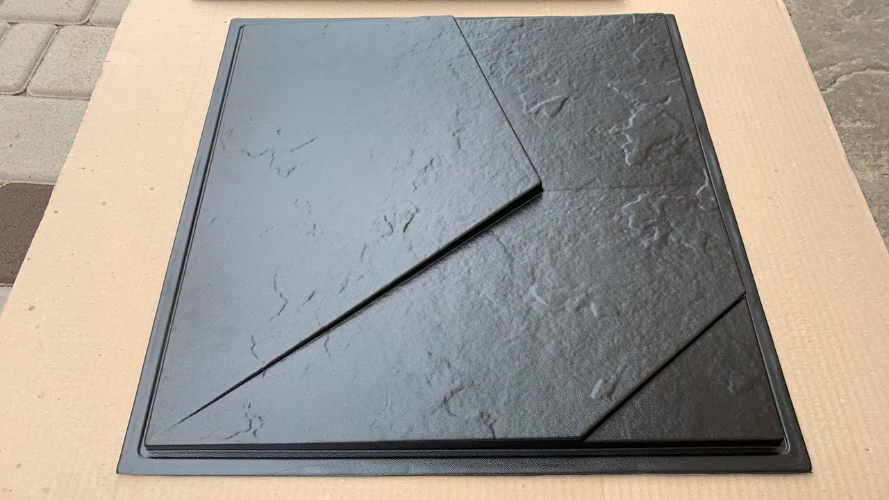 """Пластикова форма для виготовлення 3d панелей """"Вуаль"""" 50*50 (форма для 3д панелей з абс пластику)"""