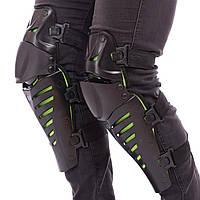 Мотозащита (колено, голень) 2шт FOX M-4553 RAPTOR (пластик, PL, цвета в ассортименте)