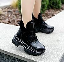 Стильні зимові кросівки з натуральної шкіри