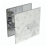 Подсвечник стеклянный Заснеженный домик