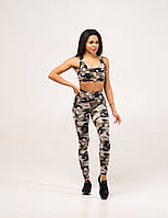 Спортивные Женские Лосины Asalart Military Style Camouflage Print