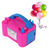 Компрессор насос для надува воздушных шариков розовый (73005)
