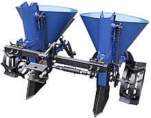 Картоплесаджалка для мінітрактора, мототрактора дворядна КС 18 (регульоване междурядие), фото 3