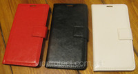 Книжка чехол Lenovo A369i белый, красный, черный