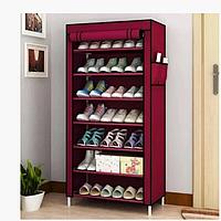 Большой стеллаж для хранения обуви Shoe Cabinet полка для обуви тканевый стеллаж органайзер.
