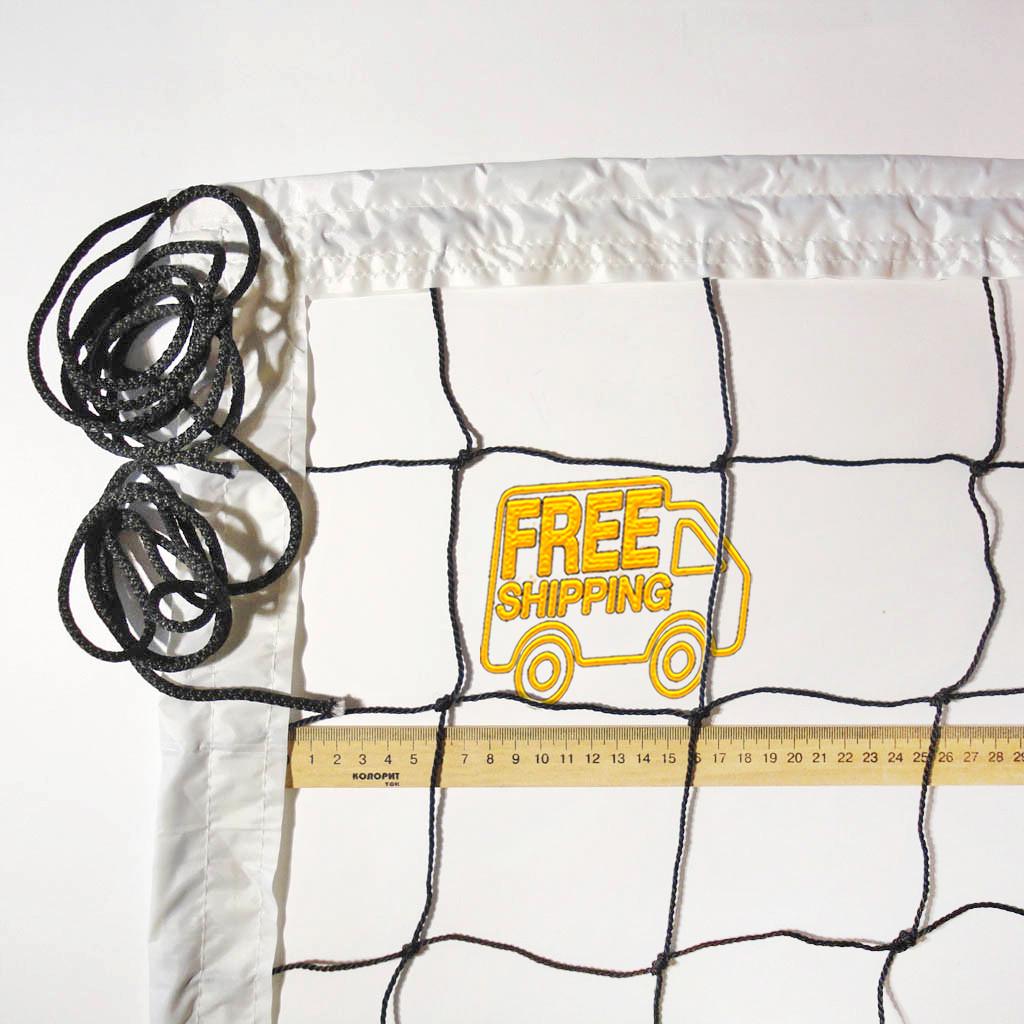 Сітка волейбольна «ЕКОНОМ 10 НОРМА» чорно-біла