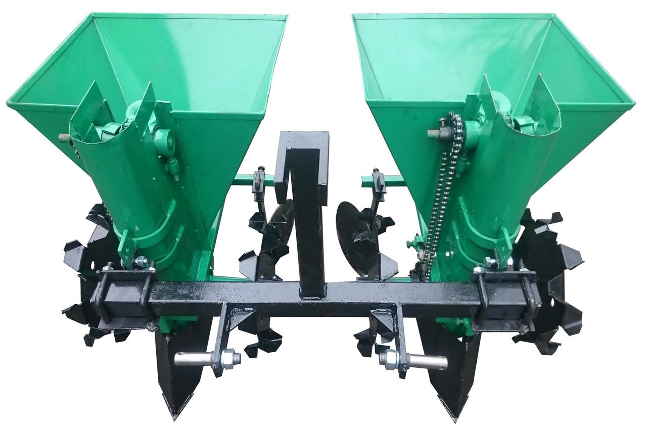 Картофелесажалка двухрядная для мототрактора, минитрактора Володар КСН-68 (три точки)