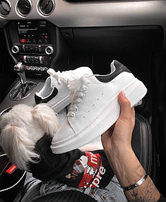 Мужские кроссовки A. McQueen white / black