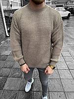Мужской свитер бежевый оверсайз, фото 1