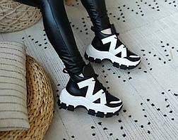 Шкіряні кросівки на платформі
