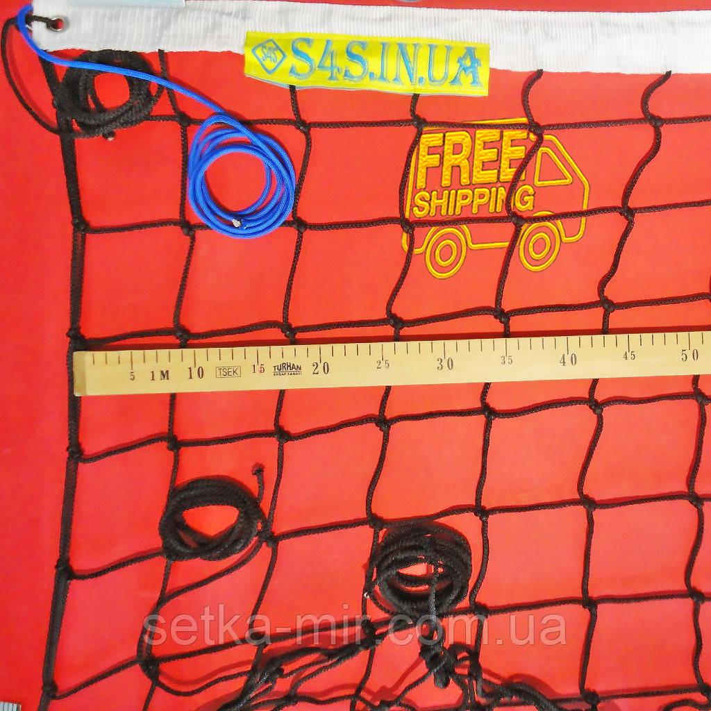 Сетка волейбольная «ЭЛИТ 10» с паракордом черно-белая