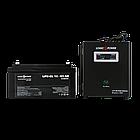 Комплект резервного живлення для котла та теплої підлоги Logicpower W800 + гелева батарея 1400ват, фото 2