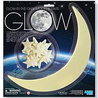 Набор светящихся наклеек 4M Луна и звезды, 13 шт., фото 1