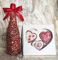Подарочный бокс пряники и бутылка, фото 2