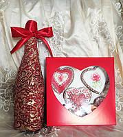Подарунковий бокс пряники і пляшка, фото 2