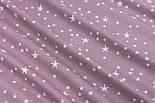 Тканина бязь з білими зірками, колір фону ретро-рожевий (світлий колір), №3222, фото 6