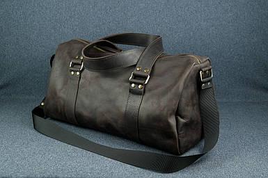 """Сумка Travel """"Модель №80"""" Вінтажна шкіра колір Шоколад"""