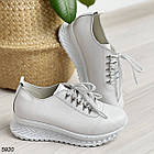 Женские белые кроссовки, натуральная кожа, фото 7