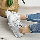 Женские белые кроссовки, натуральная кожа, фото 2