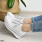 Женские белые кроссовки, натуральная кожа, фото 3