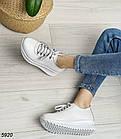 Женские белые кроссовки, натуральная кожа, фото 5