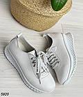 Женские белые кроссовки, натуральная кожа, фото 9