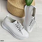 Женские белые кроссовки, натуральная кожа, фото 10