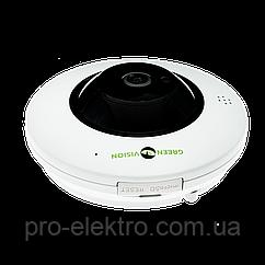 БУ Купольная IP камера GreenVision GV-075-IP-ME-DIА20-20 (360) POE (Ultra)