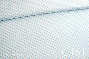 Тканина сатин Горох блакитний 8 мм
