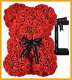 Ведмедик Тедді з 3D троянд Ведмедик з троянд 25 см червоний в оригінальній упаковці Подарунковий Ведмедик з, фото 2