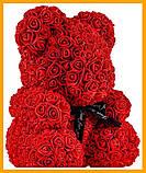 Ведмедик Тедді з 3D троянд Ведмедик з троянд 25 см червоний в оригінальній упаковці Подарунковий Ведмедик з, фото 3
